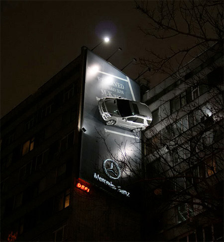 Mercedes Car Billboard