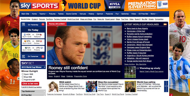 Sky  Sports World Cup 2010
